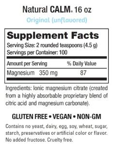 Natural Calm - Supplement Facts