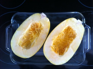 Spaghetti squash - raw seedless